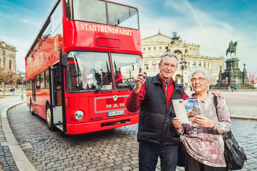 Roter Doppeldecker Dresden