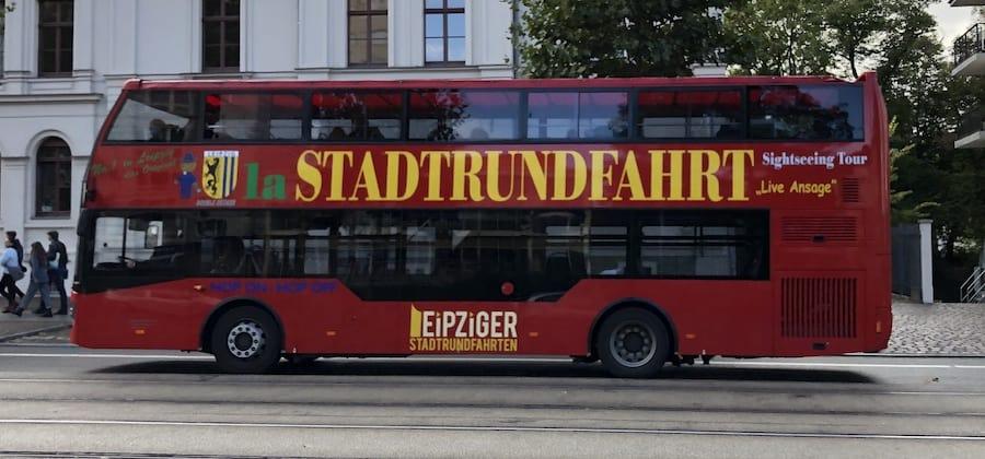Roter Doppeldecker Leipzig
